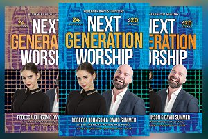 Next Generation Worship Church Flyer