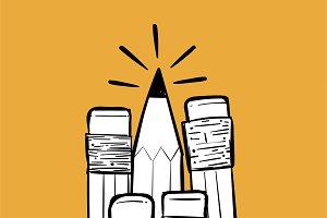 Illustration of pencils
