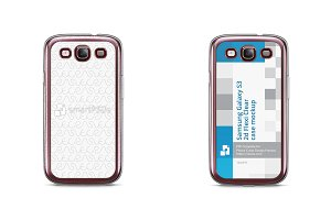 Galaxy S3 2d Flexi Clear Case Mockup