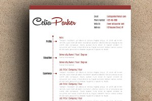 The Celia Resume Pack - Red