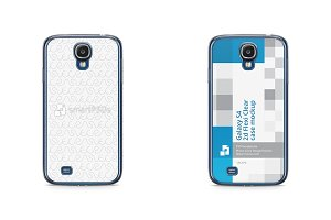 Galaxy S4 2d Flexi Clear Case Mockup