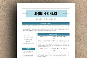 The Jennifer Resume Pack - Teal