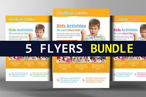 5 Sport Camp Flyers Bundle
