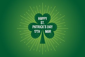 Patricks day leaf clover logo