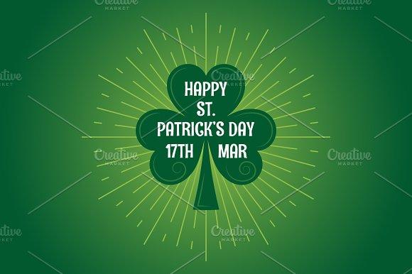 Patricks Day Leaf Clover Logo