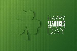 Patricks day cut paper logo