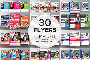 30 Education Flyers Bundle