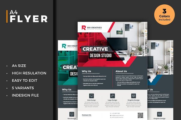 business flyer template indesign flyer templates creative market
