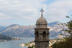 cross the old stone Church in the town of Kotor