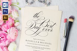 Wedding Invitation Template WPC436