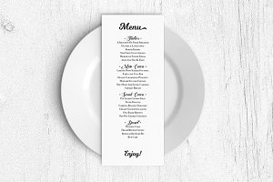 Wedding Menu Template Pdf