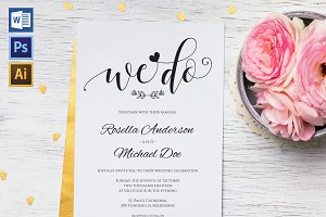 Wedding Invitation Template WPC437