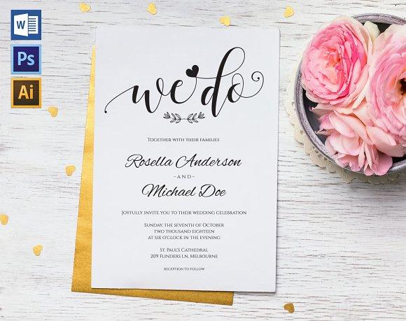 Wedding Invitation Template WPC437