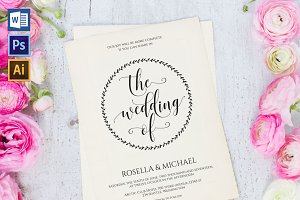 Wedding Invitation Template WPC438