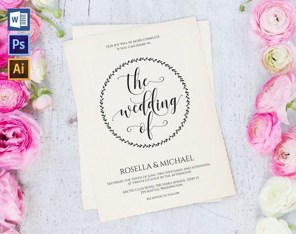 Wedding Invitation Template WPC438