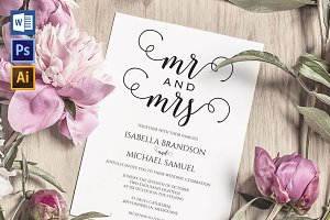 Wedding Invitation Template WPC439