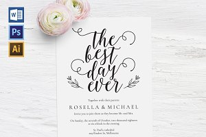 Wedding Invitation Template WPC441