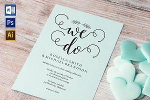 Wedding Invitation Template WPC442