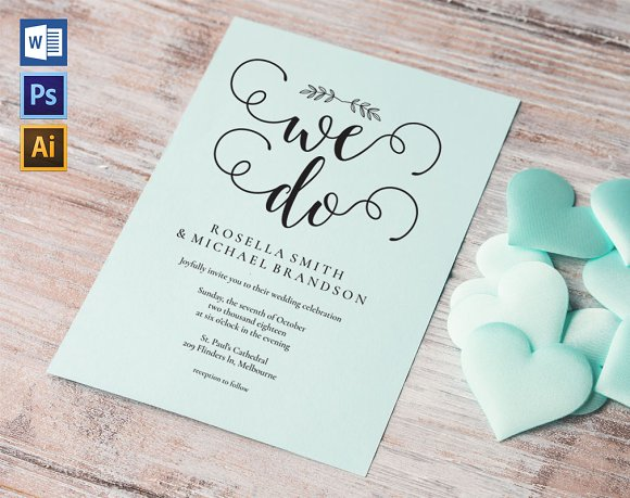 Wedding Invitation Template WPC442