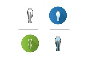 Women's sports pants icon