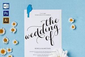 Wedding Invitation Template WPC443