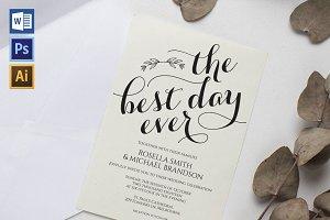 Wedding Invitation Template WPC444