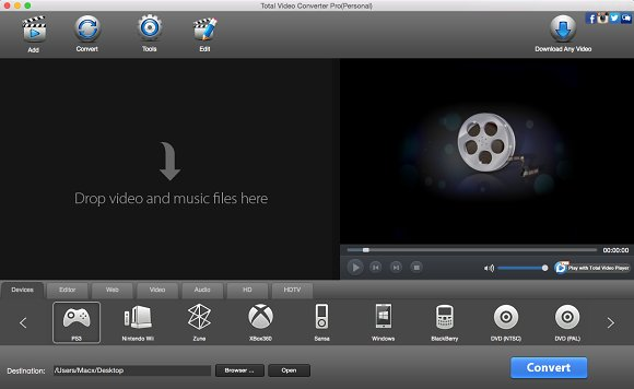 Total Video Converter Pro For Mac PC