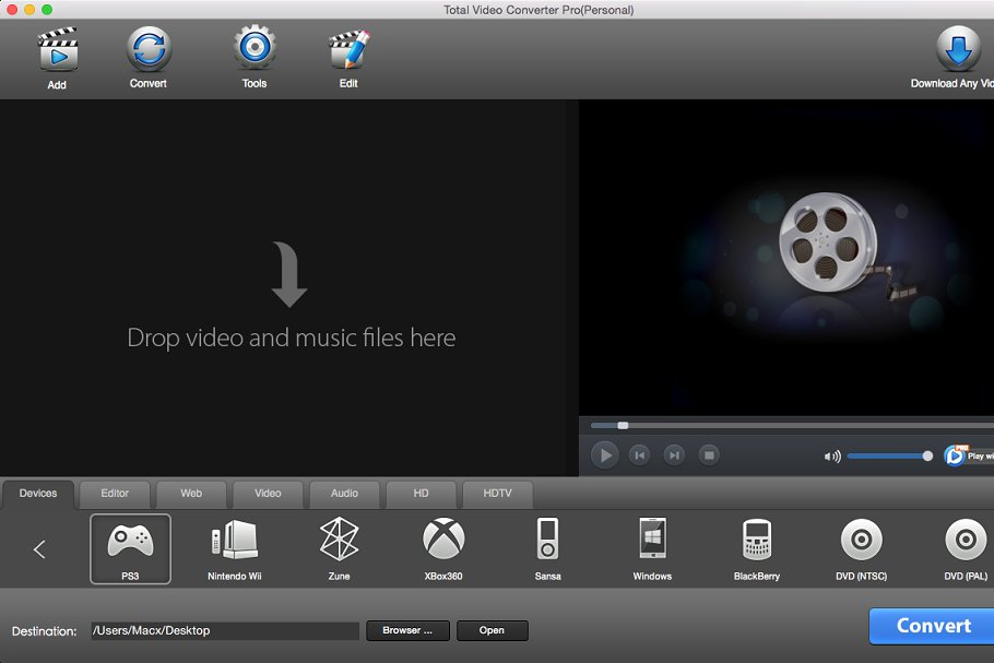 Total Video Converter Pro for Mac/PC ~ Product Mockups ~ Creative Market