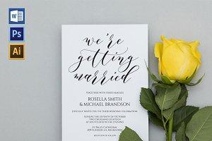 Wedding Invitation Template WPC445