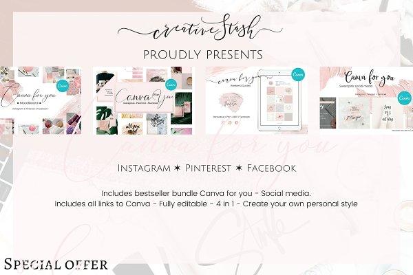 4 in 1 Canva for you - Social media