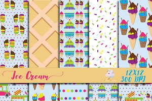 Ice Cream Digital Paper