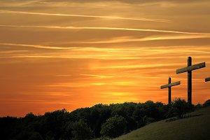 Religious representation three cross