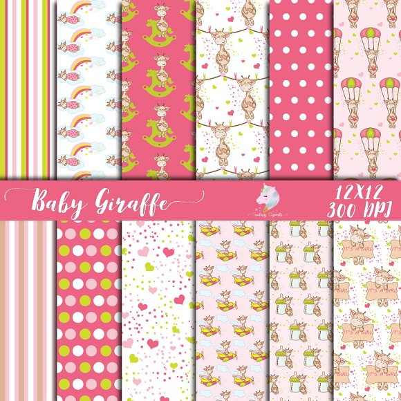 Baby Giraffes For Girls Paper