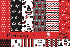 Pirate Boys Digital Paper