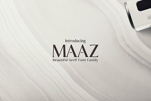 Maaz Serif Fonts Family Pack