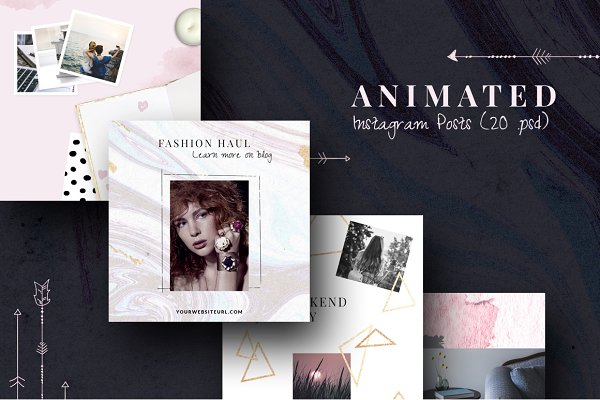 ANIMATED Instagram Posts-Boho chic