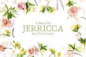 Jerricca Serif 4 Font Family Pack