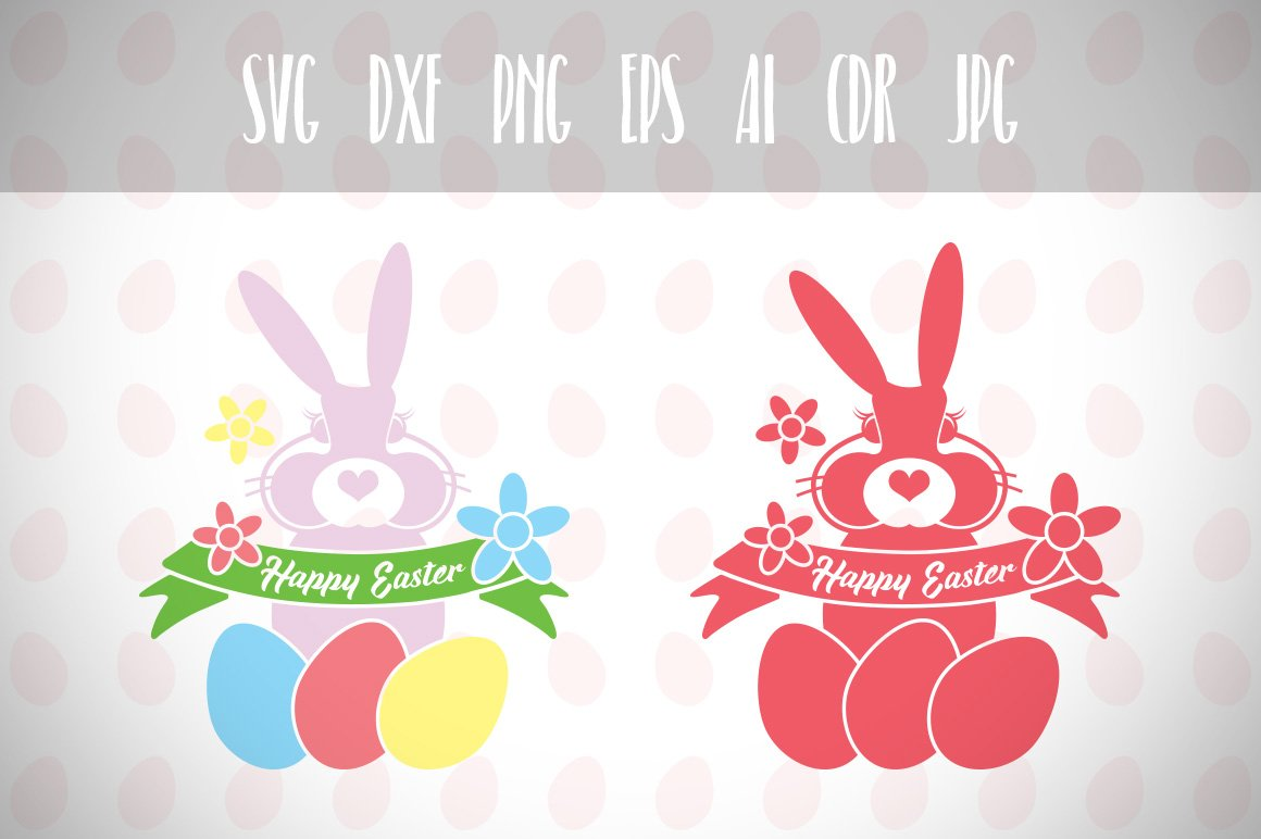 35+ Bunny Kisses And Easter Wishes / Svg Dxf Png Eps Cutting File Silhouette Cricut Crafter Files