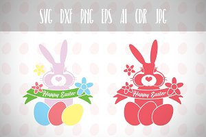 Easter Bunny Svg, Happy Easter