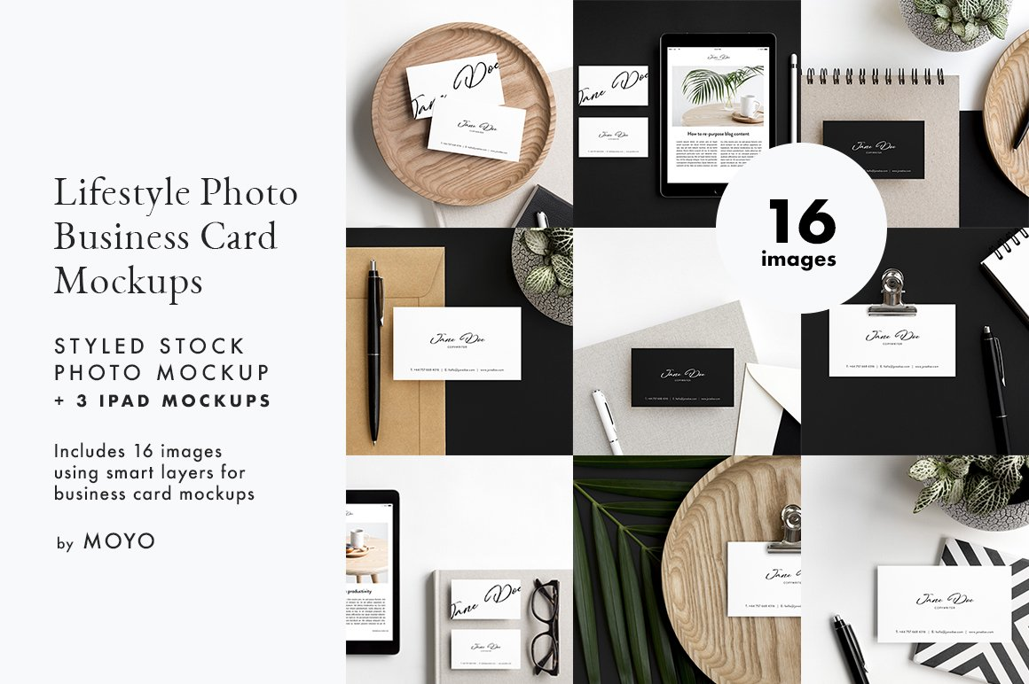 Business card ipad photos mockups product mockups creative market reheart Images