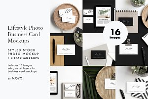 Business Card & iPad Photo Mockups