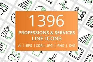 1396 Profession & Service Line Icons