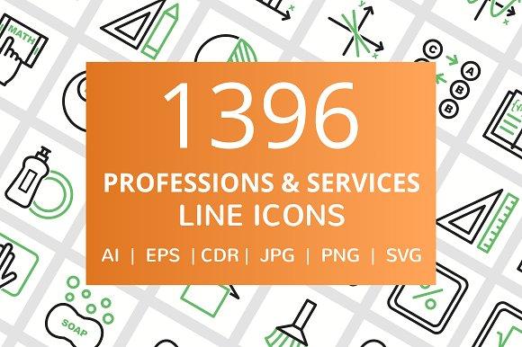 1396 Profession Service Line Icons