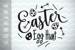 Easter Egg Hunt SVG Vector File, Hap