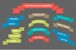 Vector retro ribbons