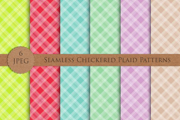 SALE Plaid Checkered Patterns Set