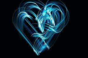 love . the symbol on black backgroun