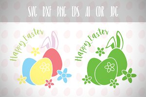 Easter Eggs, Easter Bunny Svg