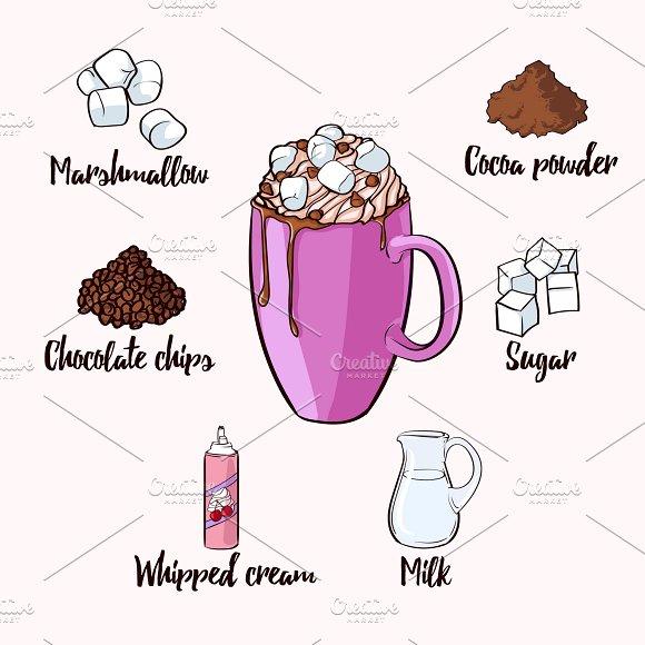 Colorful Cocoa Drink Recipe