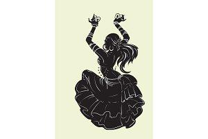 Tribal Fusion bellydancer dance silhouette